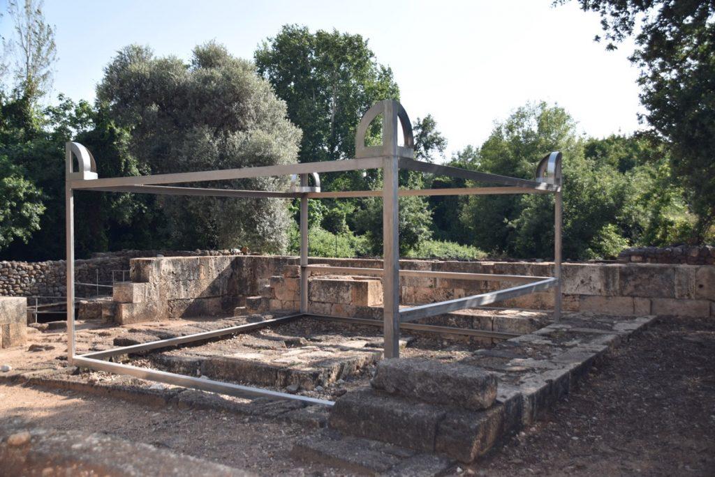 Tel Dan altar May 2018 Israel Tour Dr. John DeLancey