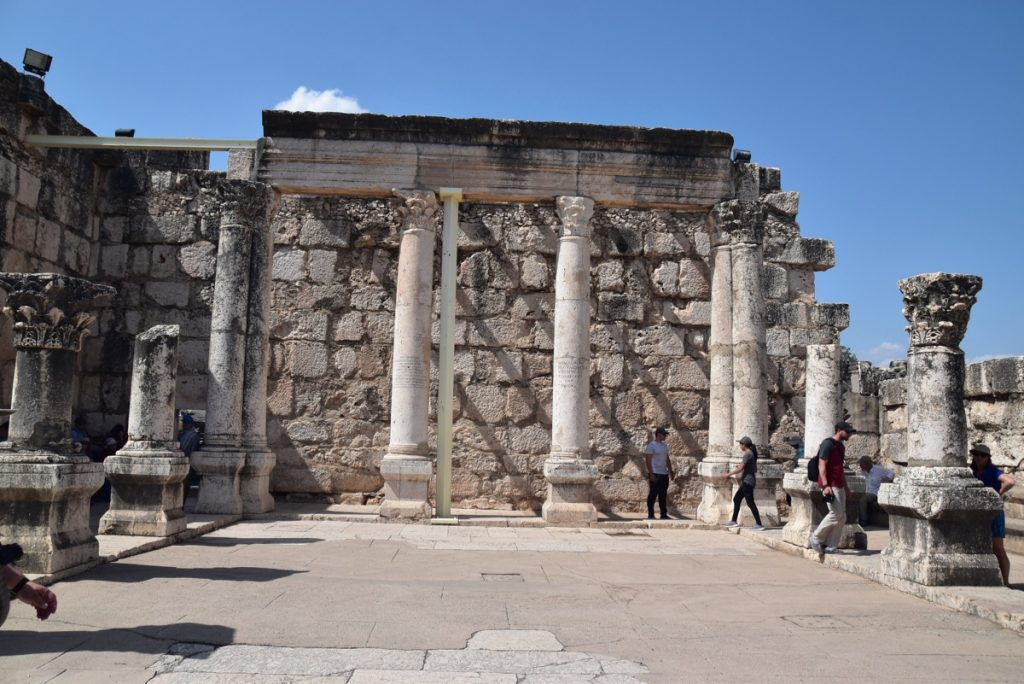 Synagogue Capernaum May 2018 Israel Tour Dr. John DeLancey