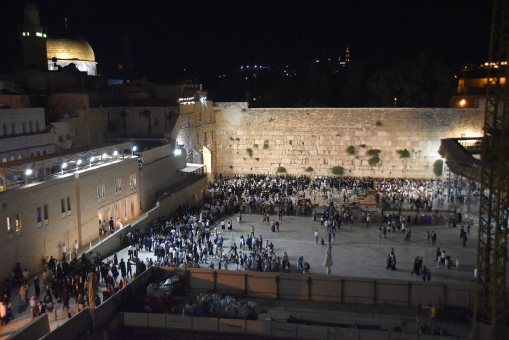 Western Wall at night Israel Tour