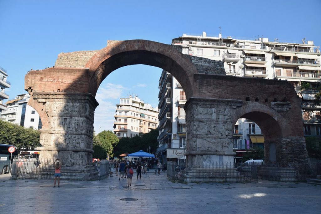 Triumphal Arch Thessaloniki Greece Tour Sept 2018 with John DeLancey