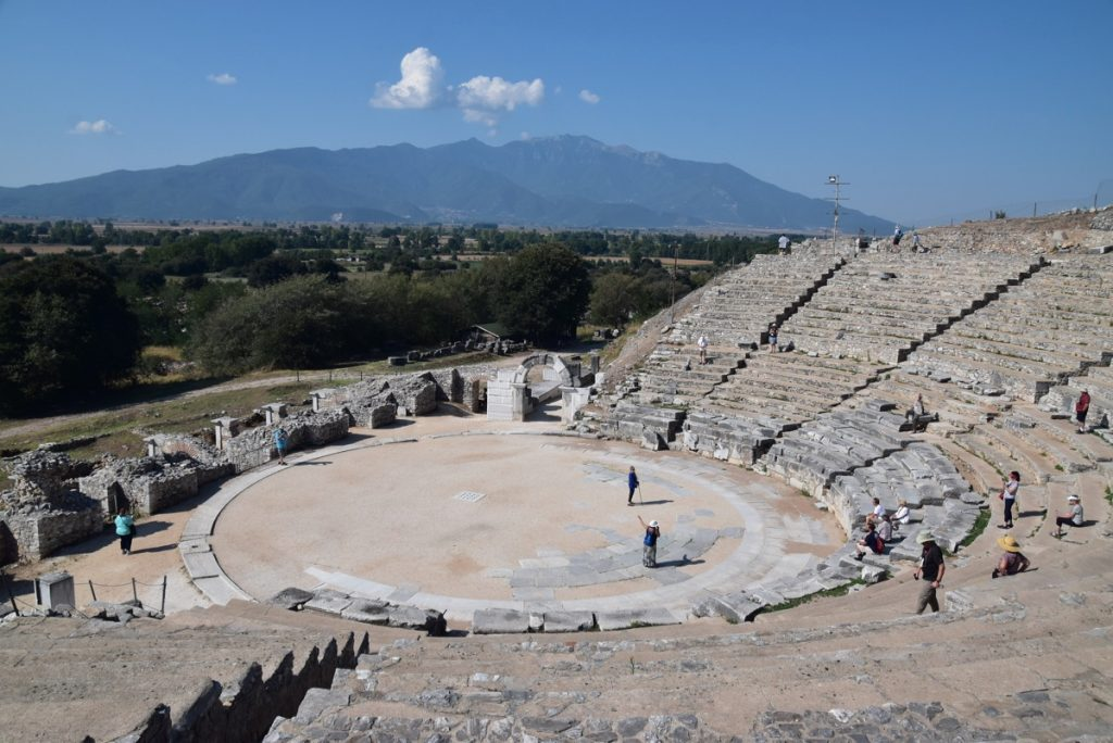 Philippi Theater Greece Tour Sept 2018 with John DeLancey