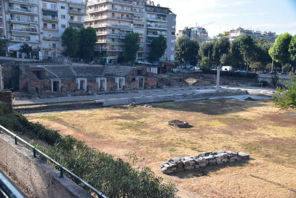 Roman Forum Thessaloniki Greece Tour Sept 2018 with John DeLancey
