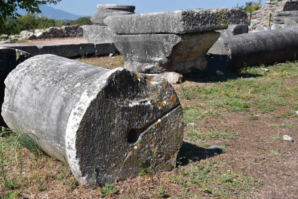 Philippi basilica Greece Tour Sept 2018 with John DeLancey