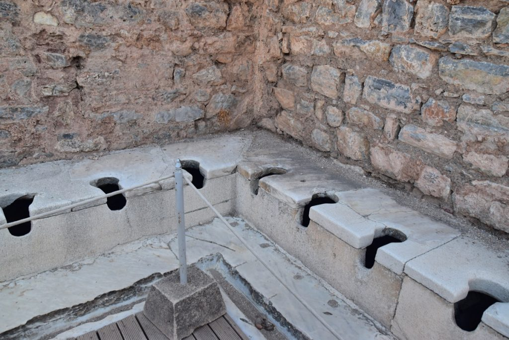 Ephesus toilet Turkey Greece Tour 2018 John DeLancey