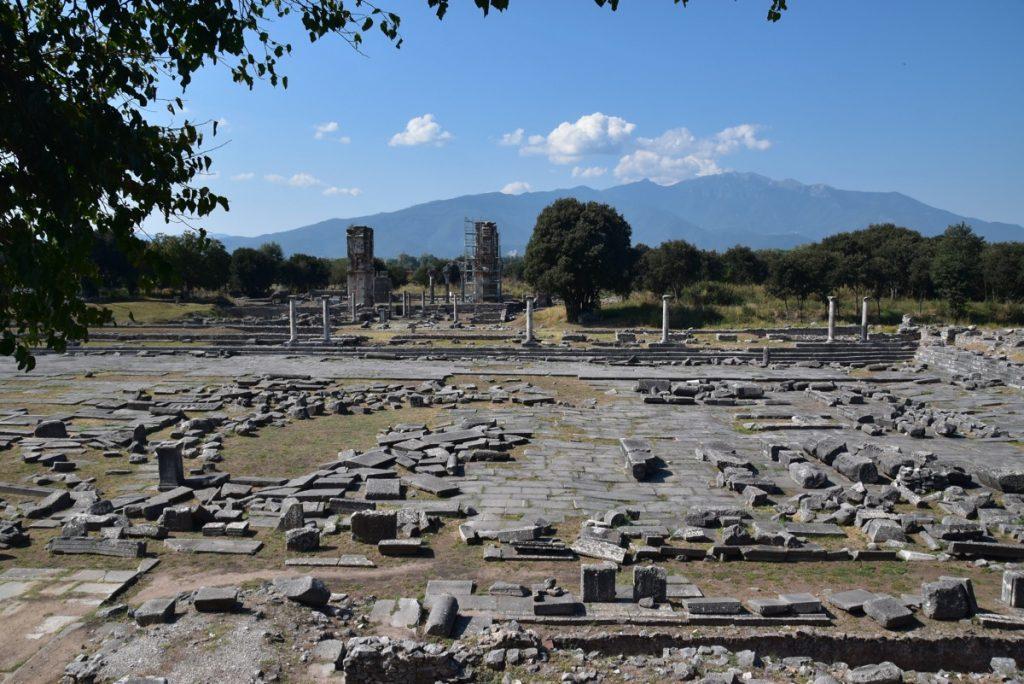 Philippi agora Greece Tour Sept 2018 with John DeLancey