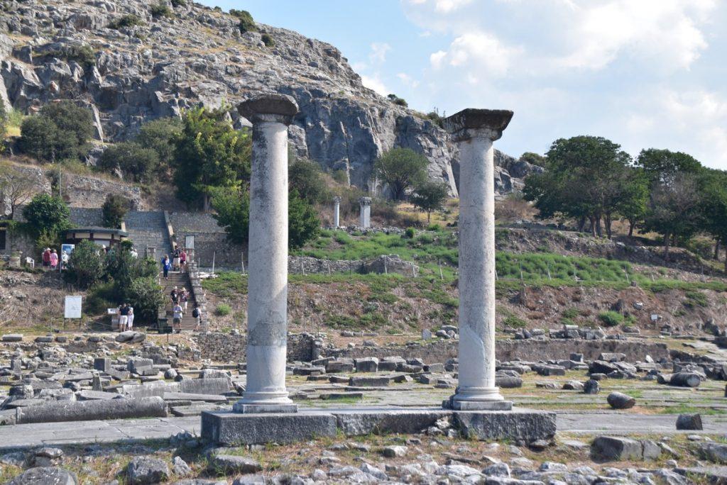 Philippi pillars Greece Tour Sept 2018 with John DeLancey