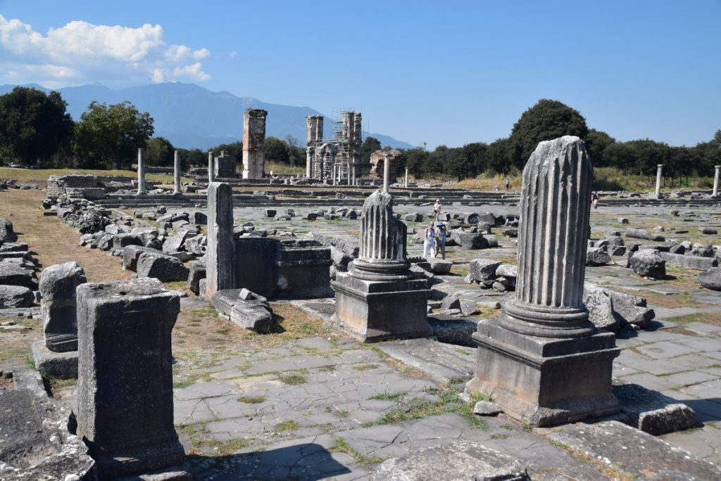 Philippi marketplace Greece Tour Sept 2018 with John DeLancey