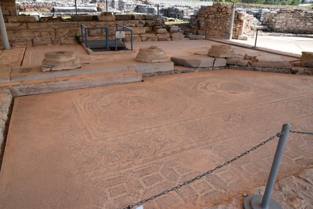 Philippi mosaic Greece Tour Sept 2018 with John DeLancey