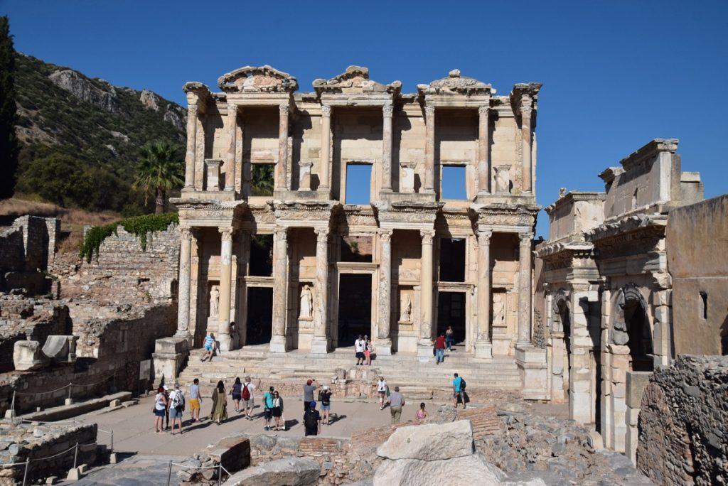 Ephesus library Turkey Greece Tour 2018 John DeLancey