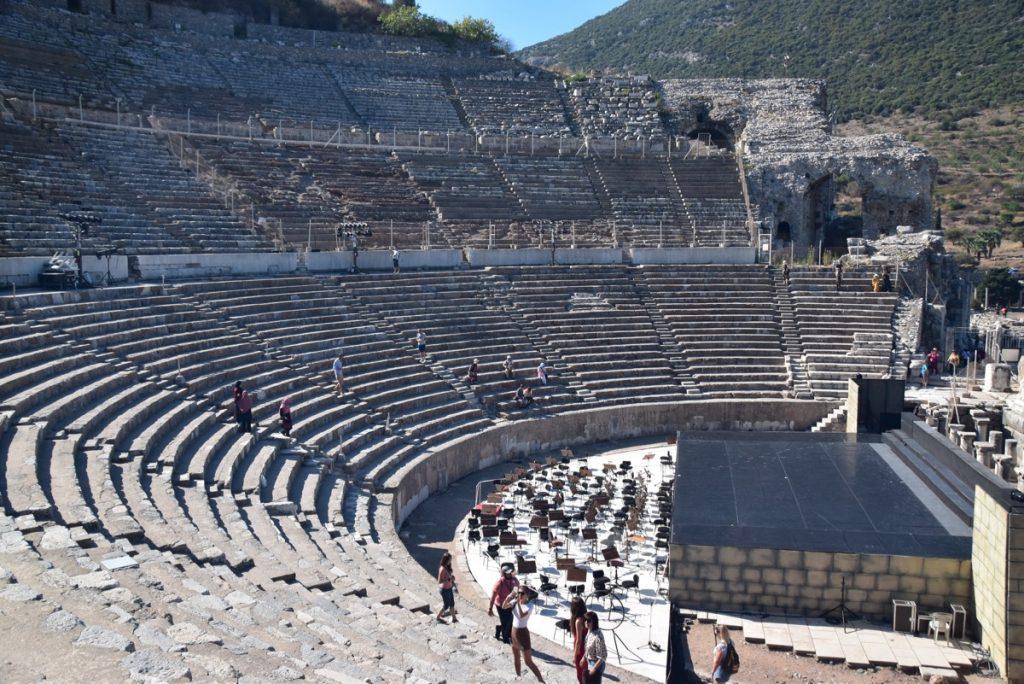 Ephesus theater Turkey Greece Tour 2018 John DeLancey