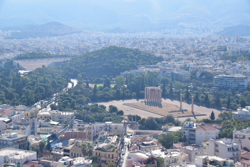 Athens Temple of Zeus Greece Tour Biblical Israel Ministries & Tours with John DeLancey