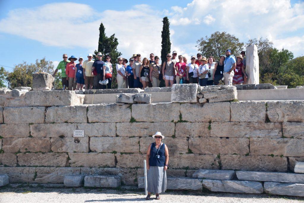 Corinth Bema Greece Tour Biblical Israel Ministries & Tours with John DeLancey