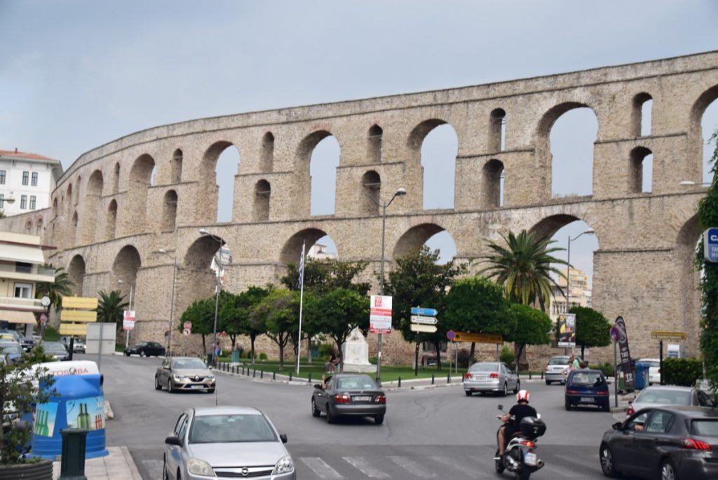 Kavala aqueduct Greece Tour Sept 2018 with John DeLancey