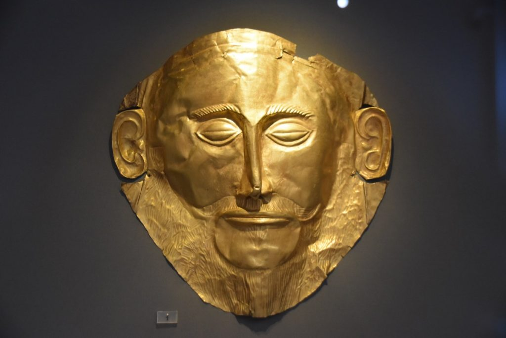 Golden mask of Agamemnon Greece Tour Biblical Israel Ministries & Tours with John DeLancey
