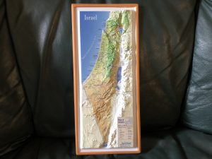 Israel topography map