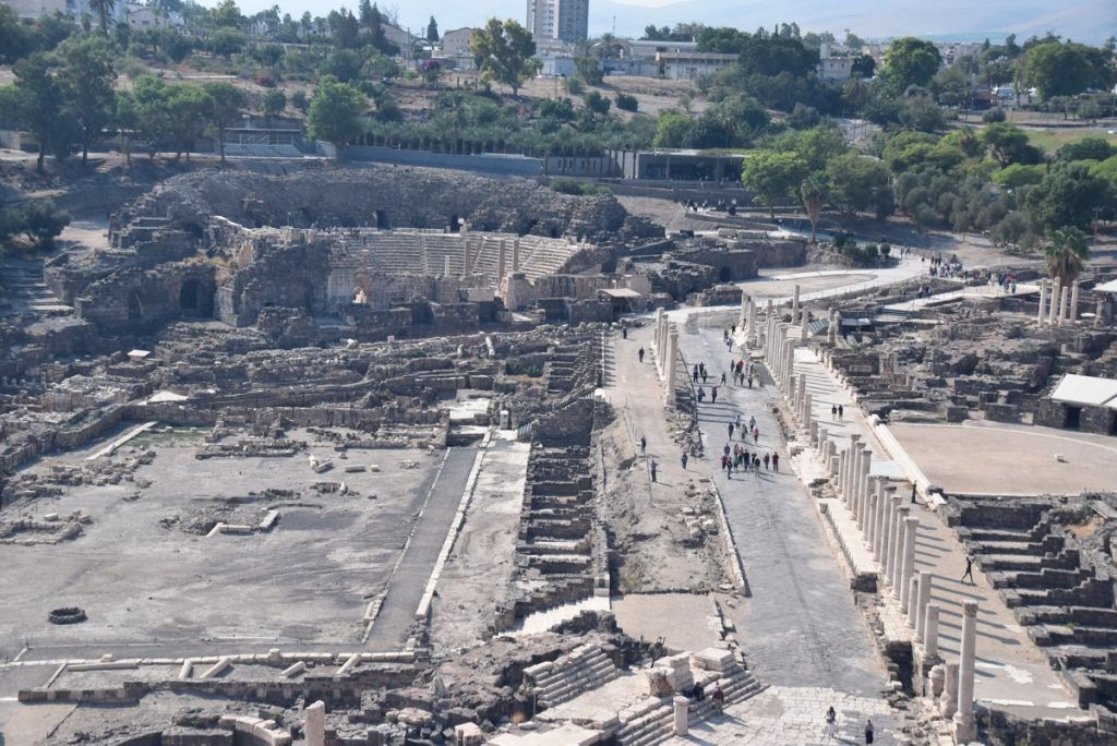 Beth Shean Nov 2018 Israel Tour with John DeLancey