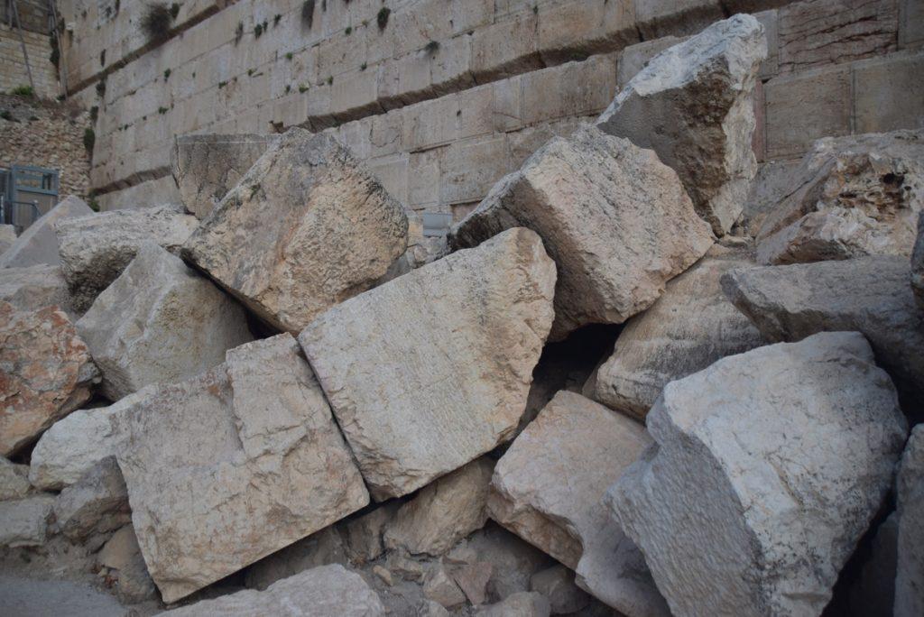 Jerusalem temple stones Nov 2018 Israel Tour John DeLancey
