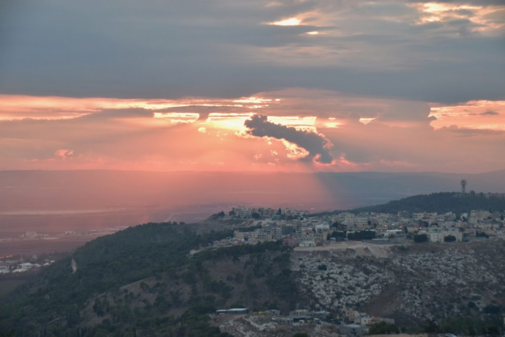 Sunset Nov 2018 Israel Tour with Biblical Israel Ministries & Tours