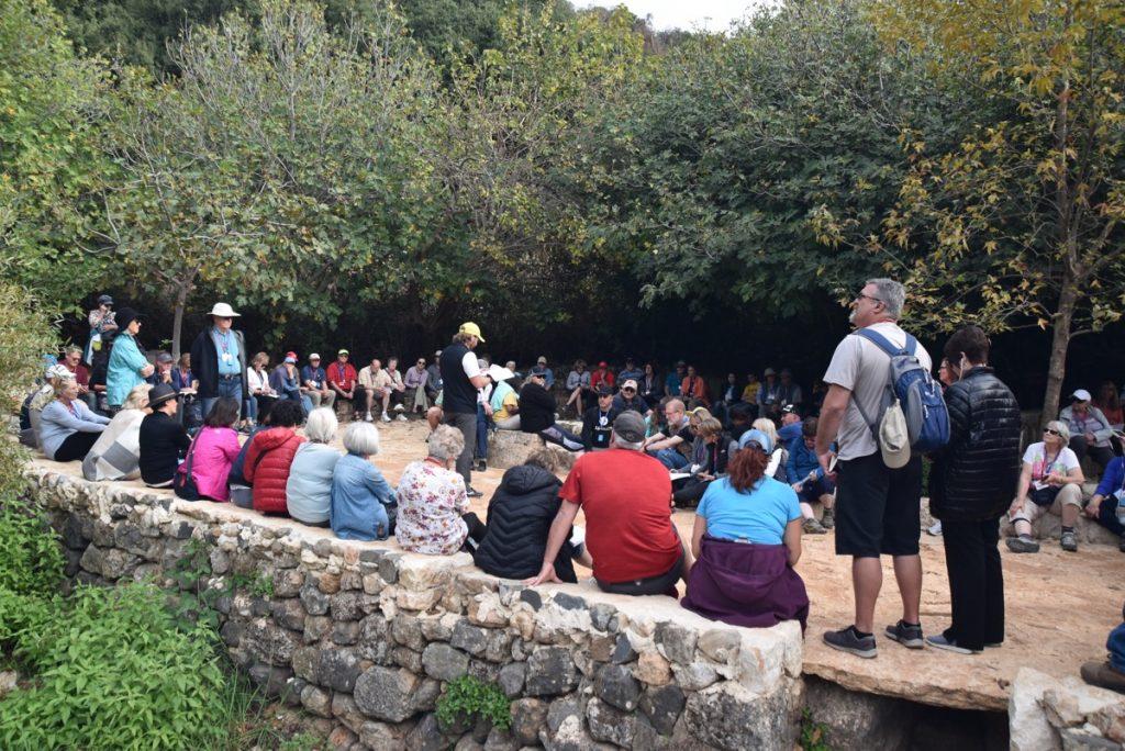 Caesarea Philippi Nov 2018 Israel Tour with BIMT