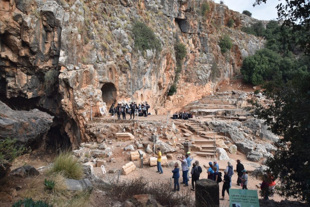 Caesarea Philippi Nov 2018 Israel Tour with BIMT