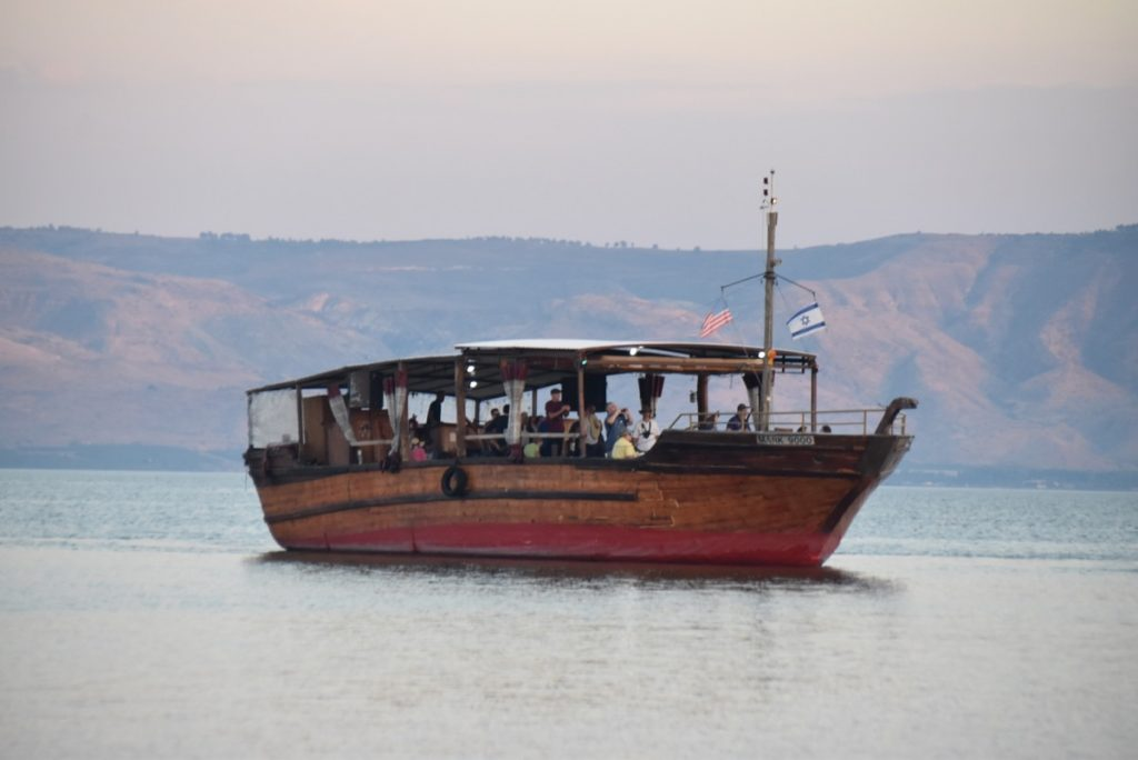 Holyland sailing on Sea of Galilee November 2018 Israel Tour with John DeLancey