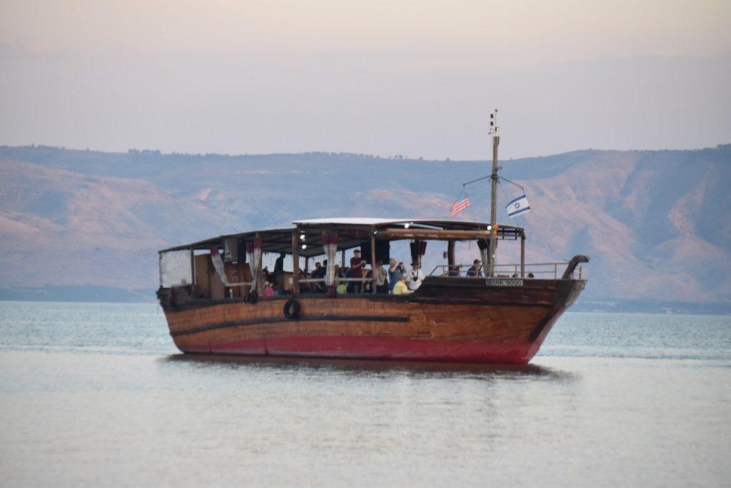 Holyland sailing on Sea of Galilee November 2018 Israel Tour with John DeLancey