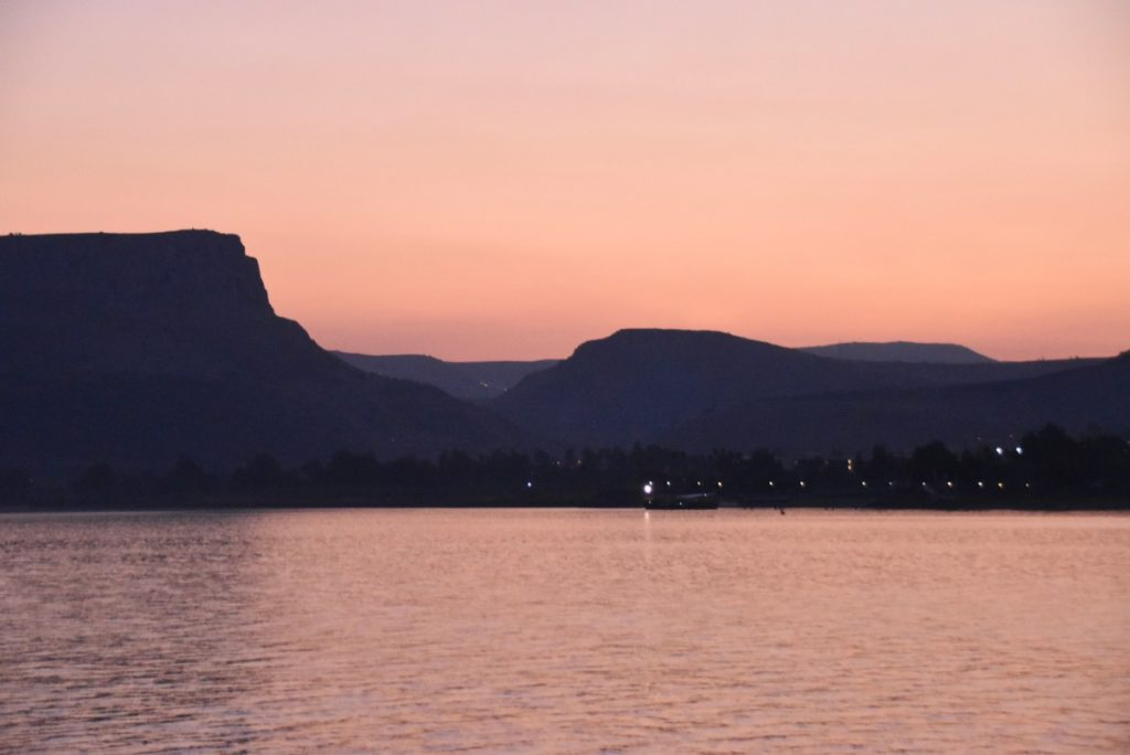 Sunset Sea of Galilee November 2018 Israel Tour with John DeLancey