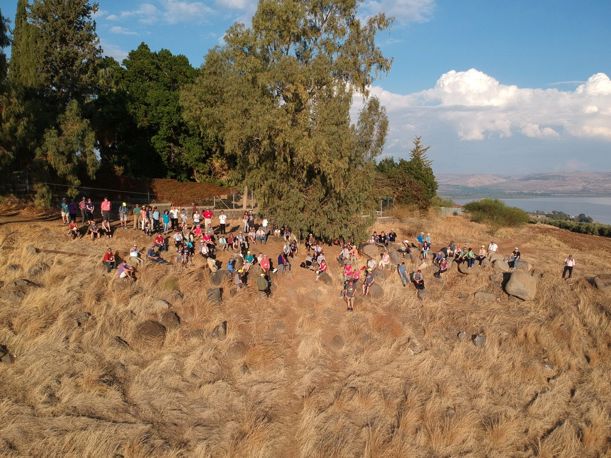Drone photo on the Mt. of Beatitudes