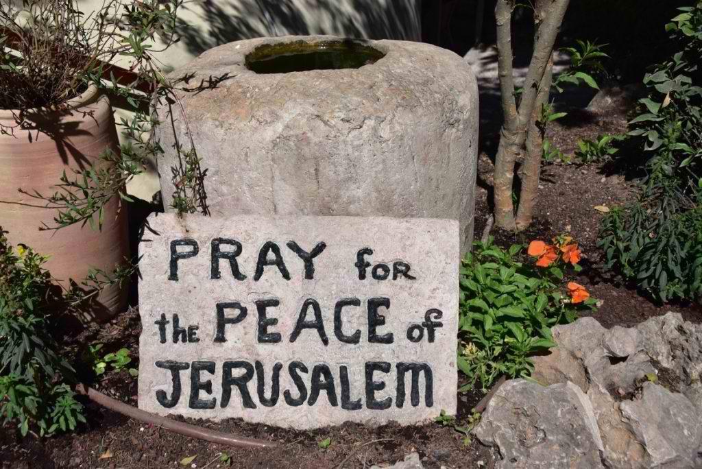 Pray for peace of Jerusalem
