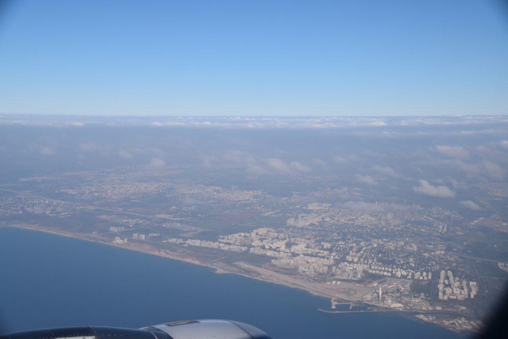 Tel Aviv Coastline Flying in