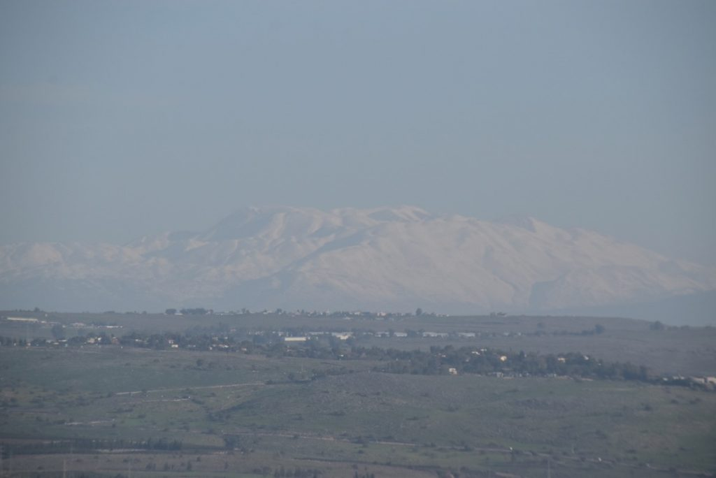 Mt. Hermon from Arbel January 2019 Israel Tour with John DeLancey