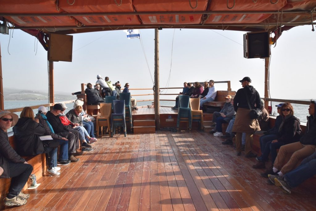 Sea of Galilee sailing January 2019 Israel Tour with John DeLancey BIMT