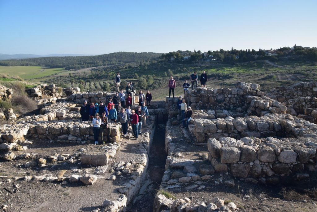 Gezer January 2019 Israel Tour Group with John Delancey of Biblical Israel Ministries & Tours