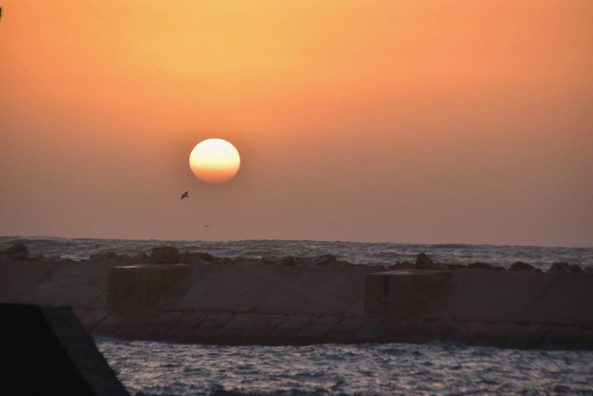 Sunset on Med Sea Jaffa