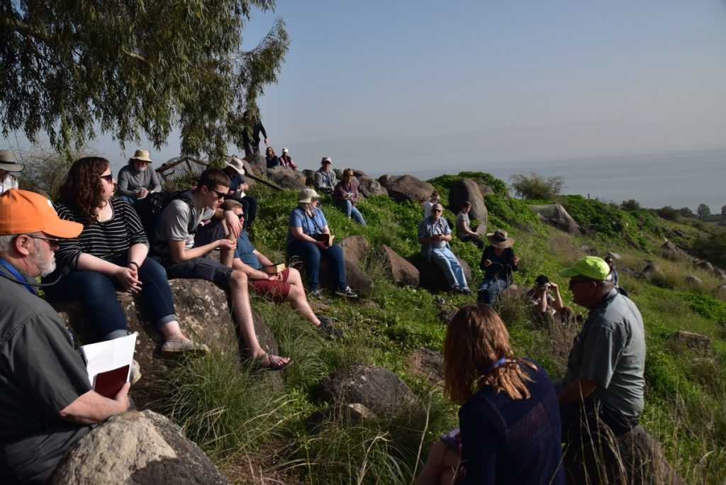 Mt. of Beatitudes January 2019 Israel Tour with John DeLancey BIMT