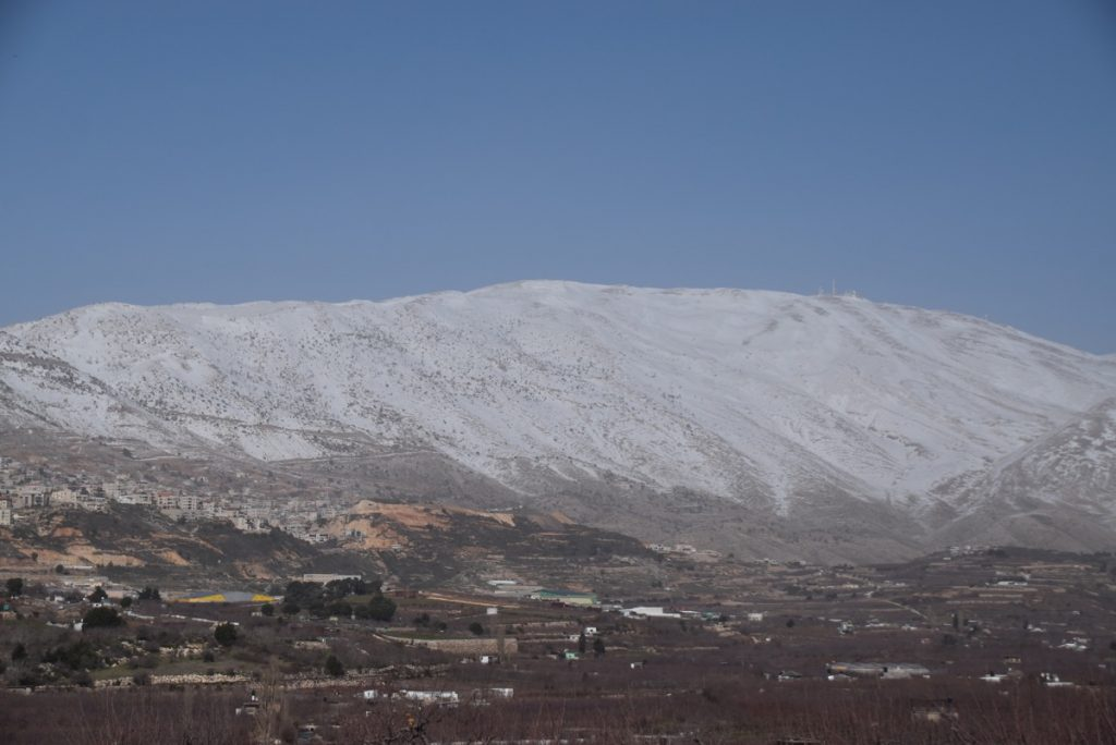 Mt Hermon January 2019 Israel Tour with John DeLancey and BIMT