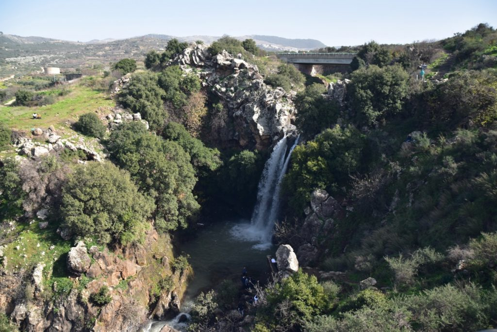 Saar Falls January 2019 Israel Tour with John DeLancey and BIMT
