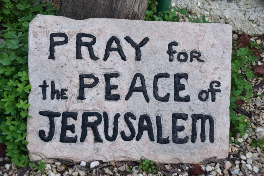 Pray for peace of Jerusalem January 2019 Israel Tour John Delancey BIMT