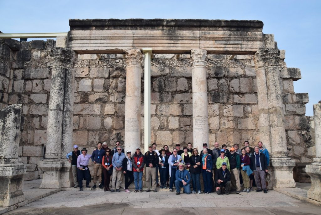 Capernaum January 2019 Israel Tour with John Delancey of Biblical Israel Ministries & Tours