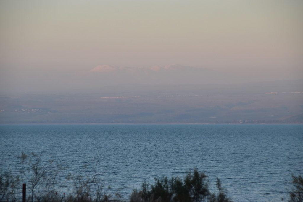 Sea of Galilee Mt. Hermon January 2019 Israel Tour with John DeLancey of Biblical Israel Ministries & Tours