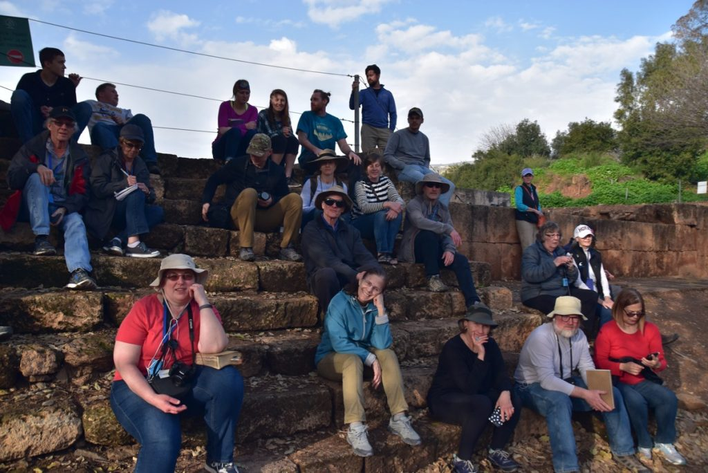 Tel Dan January 2019 Israel Tour with John DeLancey and BIMT