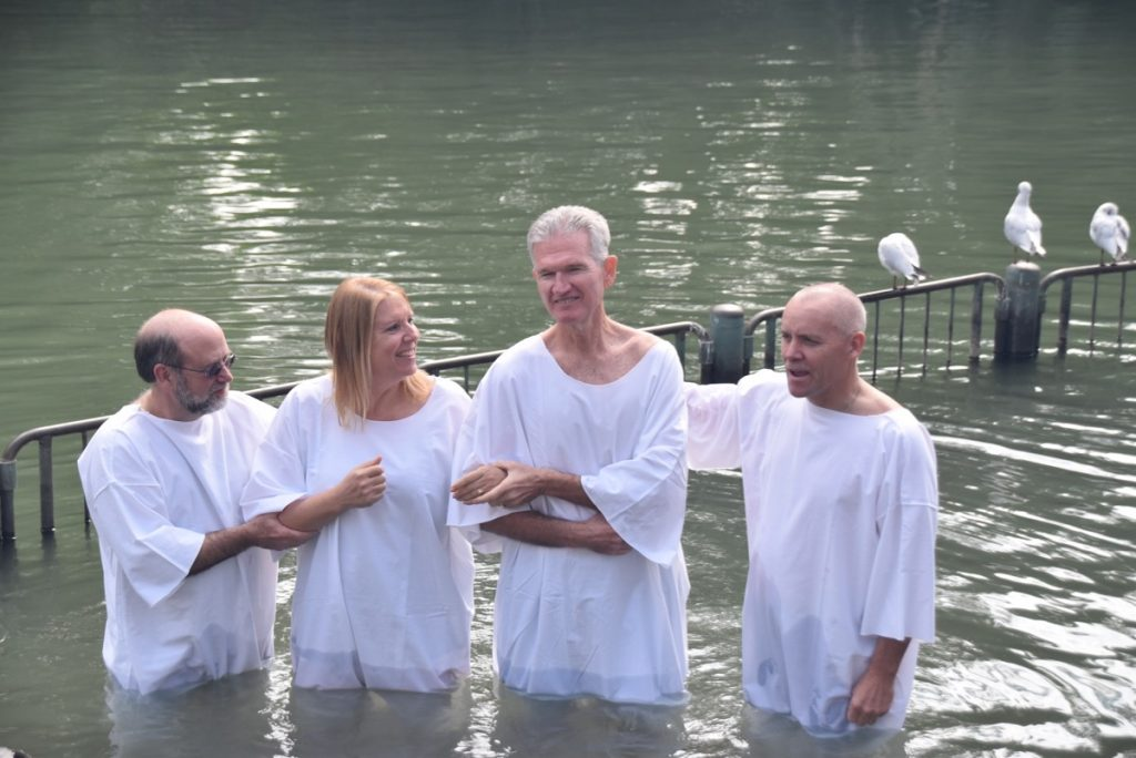 Yardenit Jordan River February 2019 Israel Tour with John DeLancey