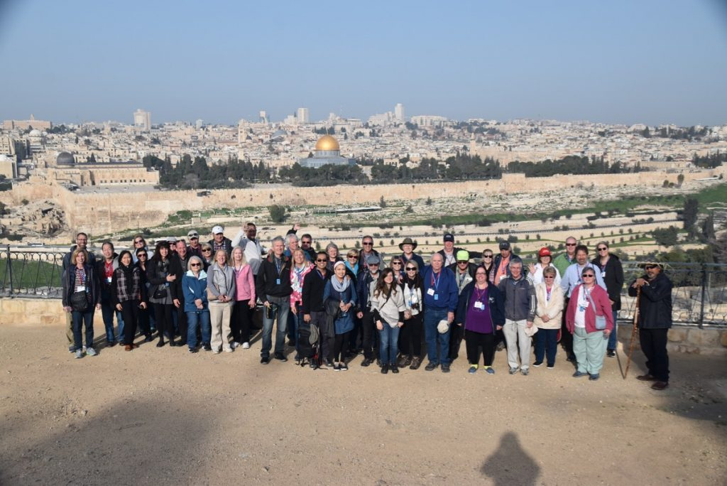 February 2019 Israel Tour Group with John Delancey, Jerusalem