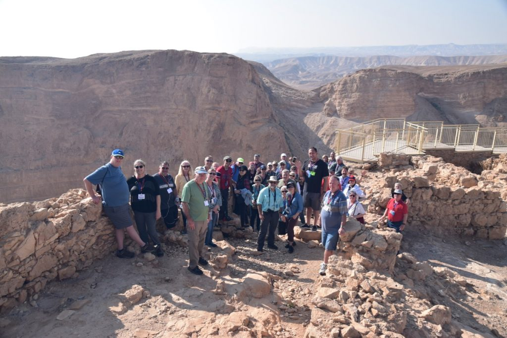 February 2019 Israel Tour Group with John Delancey, Masada