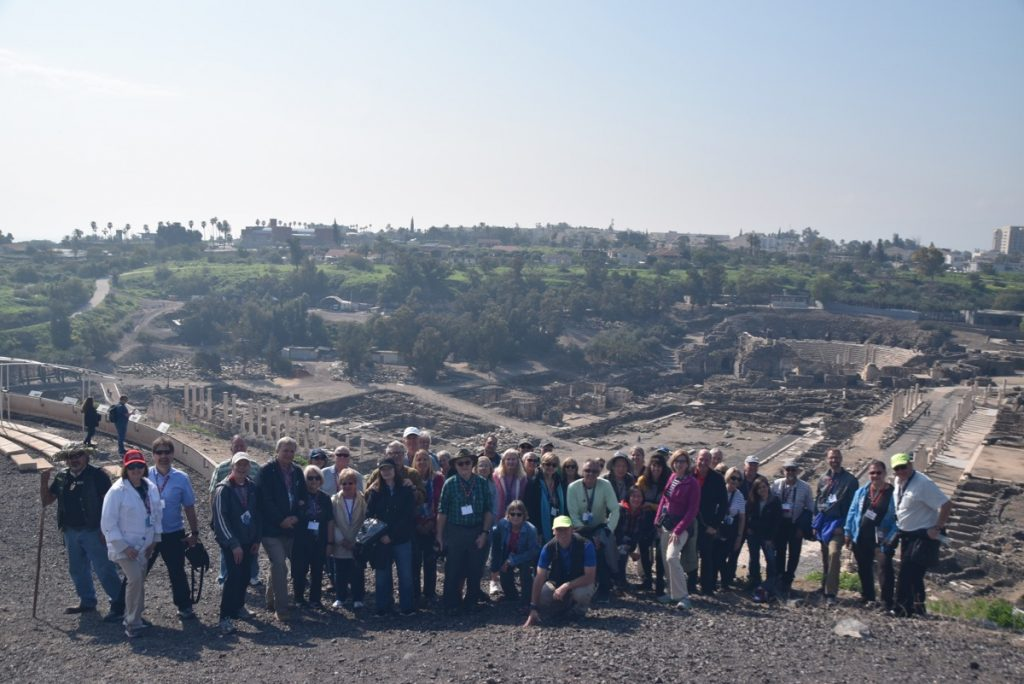 February 2019 Israel Tour Group with John Delancey, Beth Shean