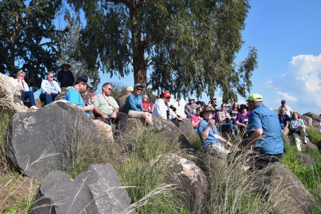 Mt. of Beatitudes February 2019 Israel Tour with John DeLancey