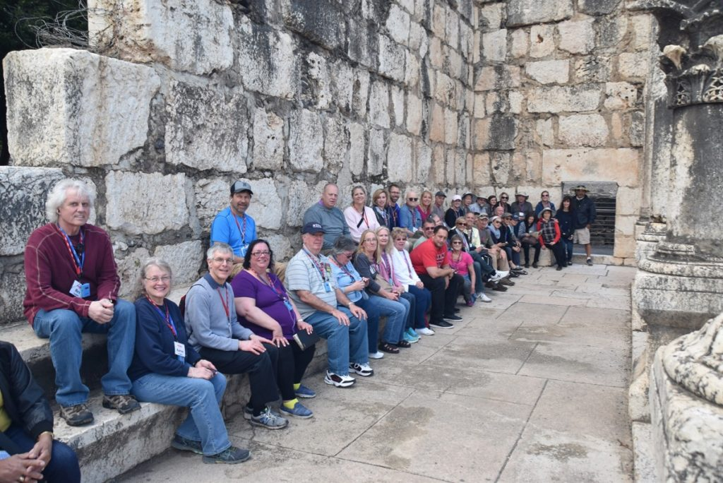 February 2019 Israel Tour Group with John Delancey, Capernaum