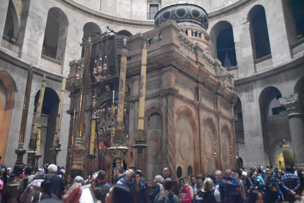 Holy Sepulcher Church Jerusalem February 2019 Israel Tour with John DeLancey