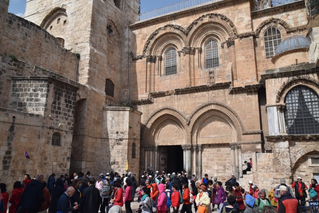 Holy Sepulcher Jerusalem February 2019 Israel Tour with John DeLancey
