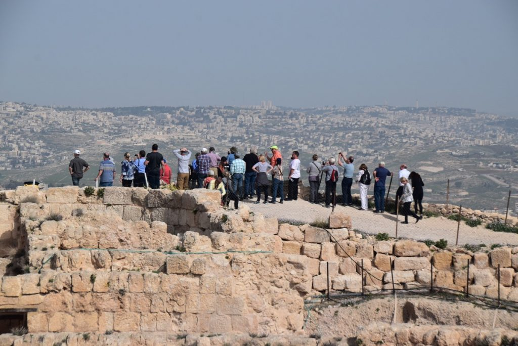 February 2019 Israel Tour Group with John Delancey, Herodium
